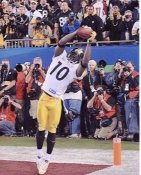Santonio Holmes TD Catch to win Super Bowl 43 Pittsburgh Steelers 8x10 Photo