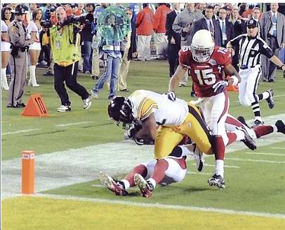 James Harrison TD Dive Super Bowl 43 Pittsburgh Steelers 8x10 Photo LIMITED STOCK