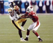 Santonio Holmes Super Bowl 43 Pittsburgh Steelers 8x10 Photo