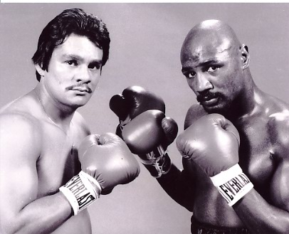 Marvin Hagler/ Roberto Duran Boxing 8x10 Photo
