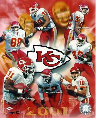 Chiefs 2001 Kansas City 8X10 Photo