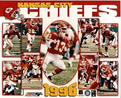 Chiefs 1996 Kansas City Team 8X10 Photo