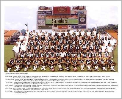 Steelers 2008 - 2009 Team Sit Down Super Bowl 43 Champs Pittsburgh 8x10 Photo