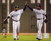 Carl Crawford and BJ Upton LIMITED STOCK Tampa Bay Devil Rays 8X10 Photo
