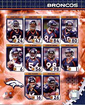 Denver 2006 Broncos Team 8x10 Photo