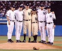 Don Larsen, Yogi Berra, David Wells, Jorge Posada, David Cone, Joe Girardi Pitchers & Hitters w/ Perfect Games Yankee Stadium 8X10 Photo