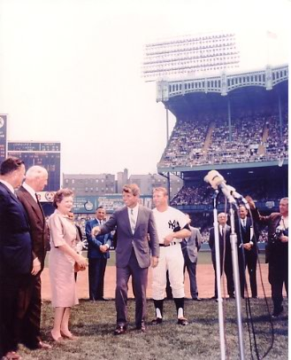 Bobby Kennedy & Mickey Mantle New York Yankees 8x10 Photo