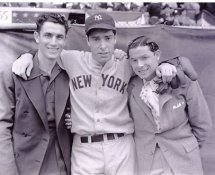 Joe DiMaggio and Brothers New York Yankees 8X10 Photo