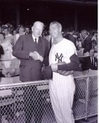 Joe DiMaggio & J Edgar Hoover New York Yankees 8X10 Photo