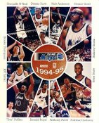 Shaq O'Neal,Dennis Scott, Horace Grant, Anthony Bowie, Anfernee Hardaway 94-95 Magic G1 Limited Stock Rare 8X10 Photo