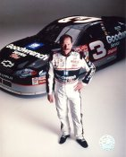 Dale Earnhardt with Car Vertical 8X10 Photo