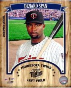 Denard Span 2009 Studio Minnesota Twins 8X10 Photo