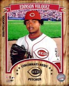 Edinson Volquez 2009 Studio LIMITED STOCK Cincinatti Reds 8X10 Photo