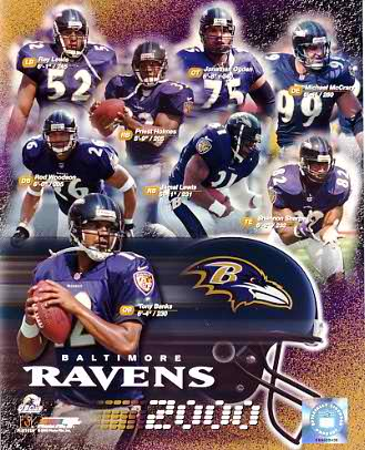 Ravens LIMITED STOCK 2000 Baltimore Team Composite 8x10 Photo