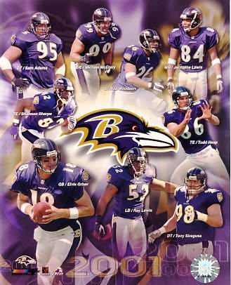 Ravens 2001 Baltimore Team Composite LIMITED STOCK 8x10 Photo