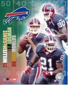 Willis McGahee, JP Losman, Eric Moulds Big 3 Buffalo Bills 8X10
