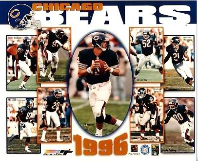 Bears 1996 Chicago Team 8X10 Photo