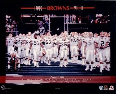 Browns 1999-2000 Cleveland Team  8X10 Photo