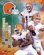 Trent Dilfer, William Green, Braylon Edwards Big 3 Cleveland Brown 8X10 Photo