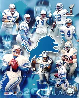Lions 2001-2002 Detroit Team 8X10 Photo
