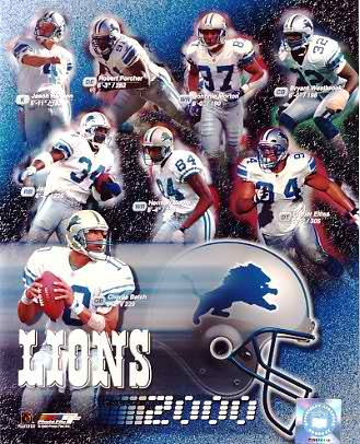 Lions 2000 Detroit Team 8X10 Photo
