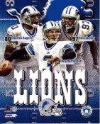 Boss Bailey, Joey Harrington, Charles Rogers Big 3 Detroit Lions 8X10 Photo