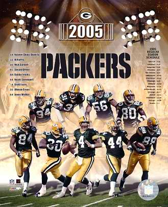 Packers 2005 Green Bay Team 8X10 Photo