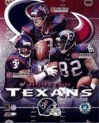 Billy Miller, David Carr, Aaron Glenn Big 3 Houston Texans 8X10 Photo