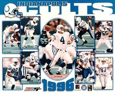 Colts 1996 Indianapolis Team 8X10 Photo