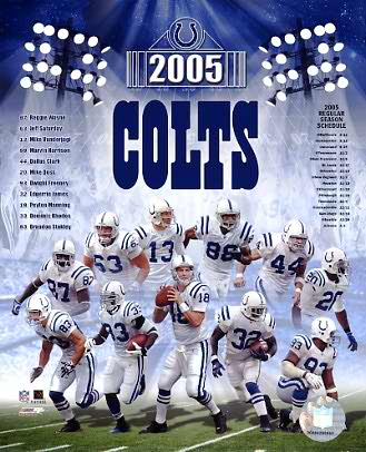 Colts 2005 Indianapolis Team 8X10 Photo