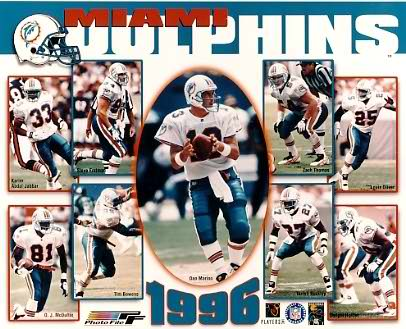 Dolphins 1996 Miami Team 8x10 Photo