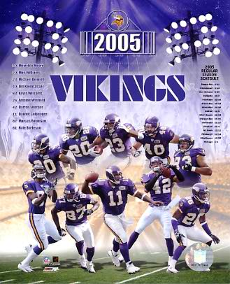 Vikings 2005 Minnesota Team 8X10 Photo