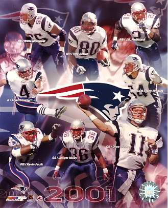Patriots 2001 Team New England 8x10 Photo