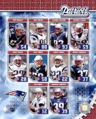 Asante Samuel, Rodney Harrison, Tedy Bruschi, Tom Brady Patriots 2006 SUPER SALE New England Team 8x10 Photo