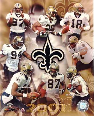 Saints 2001 New Orleans 8X10 Photo