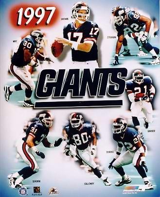 Giants 1997 New York Team 8X10 Photo