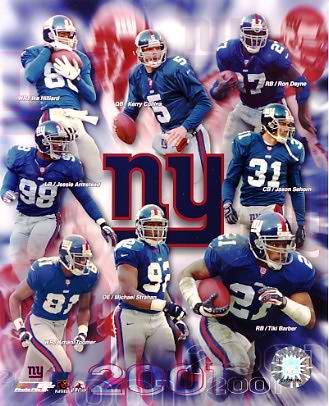 Giants 2001-2002 New York Team 8X10 Photo