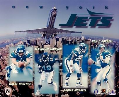Jets 1997 New York Team 8X10 Photo