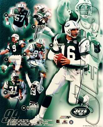 Jets 1999 New York Team 8X10 Photo