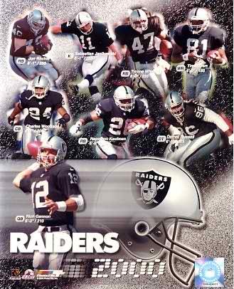 Raiders 2000 Oakland Team 8X10