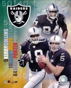 Jerry Porter, Randy Moss, Kerry Collins Big 3 Oakland Raiders 8X10 Photo