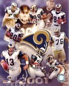 Rams 2001 St. Louis Team LIMITED STOCK 8X10 Photo