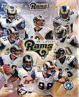 Rams 2003 St. Louis Team 8X10 Photo