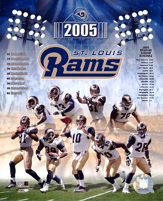 Rams 2005 St. Louis Team 8X10 Photo