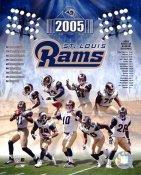 Rams 2005 St. Louis Team 8X10 Photo