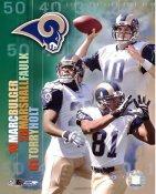 Torry Holt, Marshall Faulk, Marc Bulger Big 3 St. Louis Rams 8X10 Photo