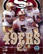 Jeff Garcia, Terrell Owens, Garrison Hearst LIMITED STOCK Big 3 San Francisco 49ers 8X10 Photo
