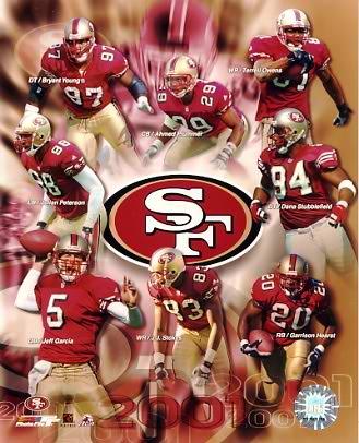 49ers 2001 San Francisco Team 8X10 Photo