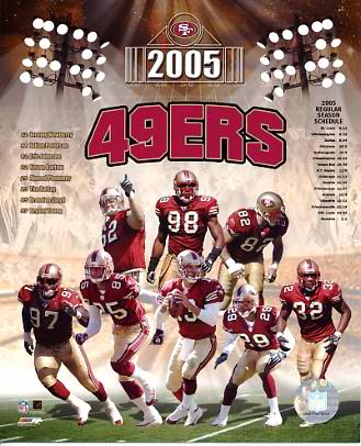 49ers 2005 San Francisco Team 8X10 Photo