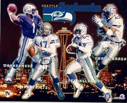 Seahawks 1997 Seattle Team Composite 8X10